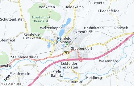 Stadtplan Reinfeld (Holstein)