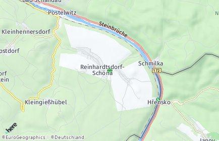 Stadtplan Reinhardtsdorf-Schöna