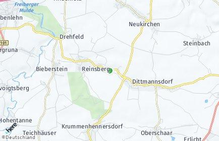 Stadtplan Reinsberg (Sachsen) OT Steinbach