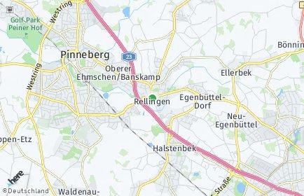 Stadtplan Rellingen