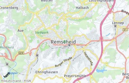 Stadtplan Remscheid