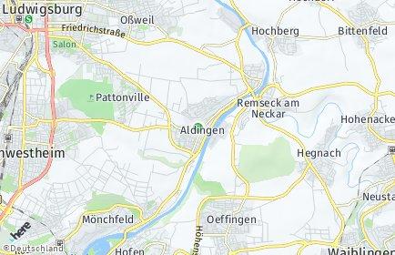 Stadtplan Remseck am Neckar