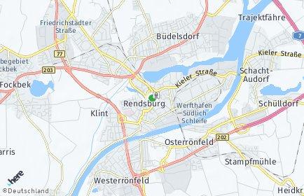 Stadtplan Rendsburg