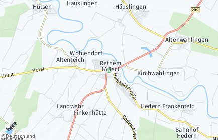 Stadtplan Rethem (Aller)