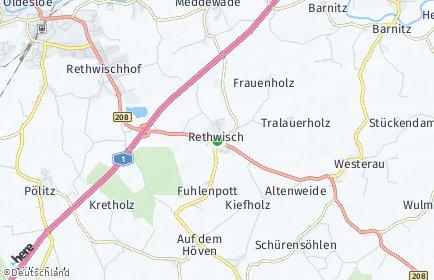 Stadtplan Rethwisch (Stormarn)