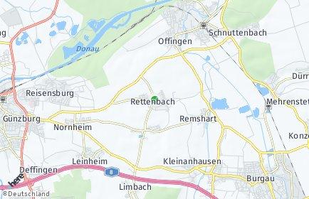 Stadtplan Rettenbach (Kreis Günzburg)