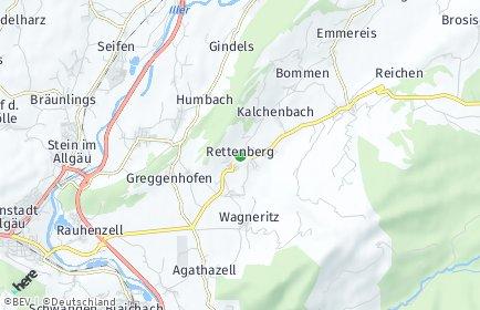 Stadtplan Rettenberg