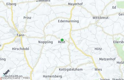Stadtplan Reut OT Knogl bei Tann