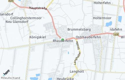 Stadtplan Rhauderfehn