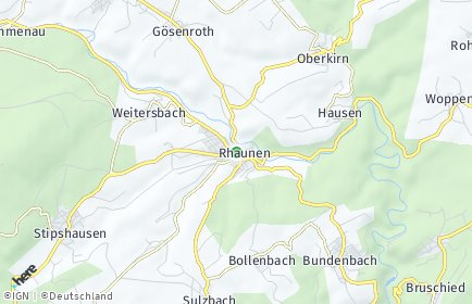 Stadtplan Rhaunen