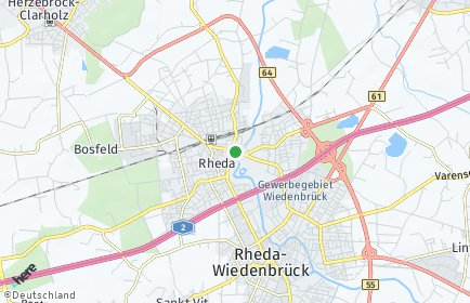 Stadtplan Rheda-Wiedenbrück