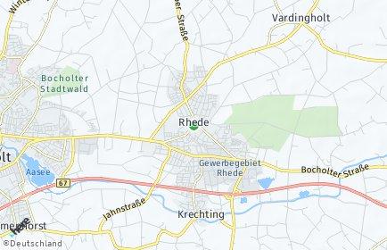 Stadtplan Rhede