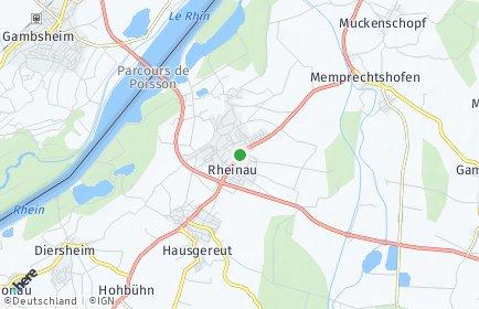 Stadtplan Rheinau (Baden)