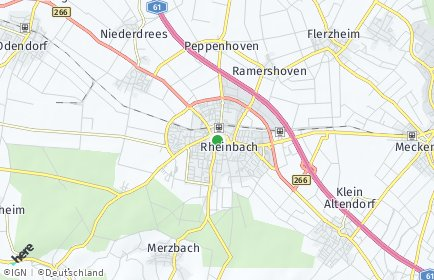 Stadtplan Rheinbach