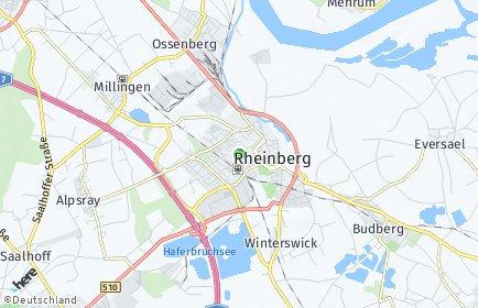 Stadtplan Rheinberg OT Wallach
