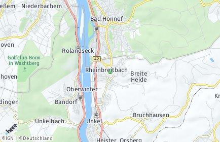 Stadtplan Rheinbreitbach