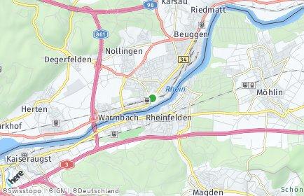 Stadtplan Rheinfelden (Baden) OT Adelhausen