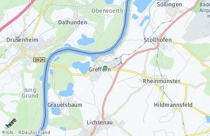 Stadtplan Rheinmünster