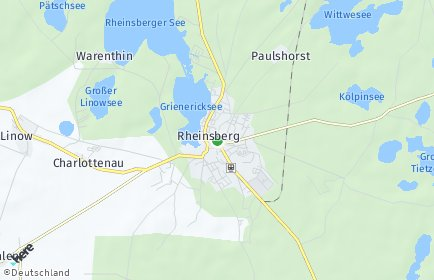 Stadtplan Rheinsberg