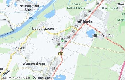 Stadtplan Rheinstetten OT Forchheim