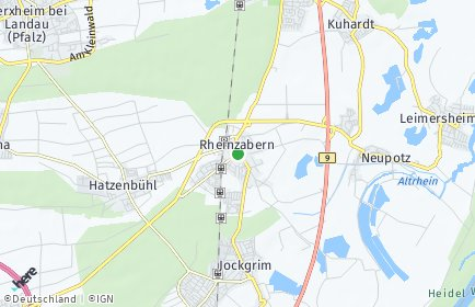 Stadtplan Rheinzabern