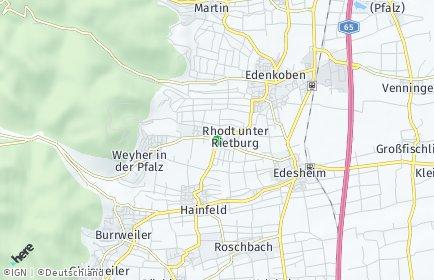 Stadtplan Rhodt unter Rietburg