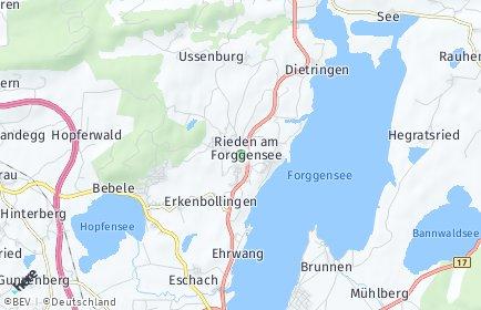 Stadtplan Rieden am Forggensee
