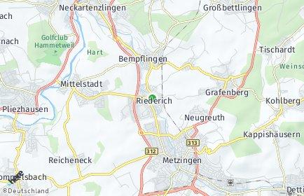 Stadtplan Riederich