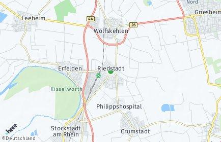 Stadtplan Riedstadt