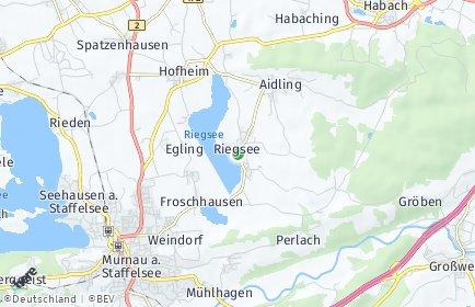 Stadtplan Riegsee OT Aidling