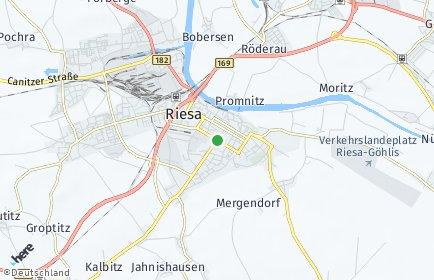 Stadtplan Riesa OT Poppitz