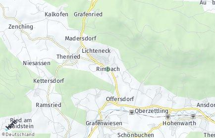 Stadtplan Rimbach (Oberpfalz) OT Offersdorf