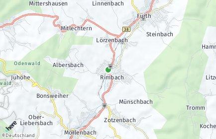 Stadtplan Rimbach (Odenwald)