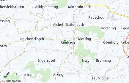 Stadtplan Rimbach (Niederbayern)
