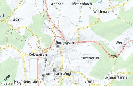 Stadtplan Rodewisch