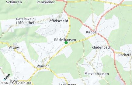 Stadtplan Rödelhausen
