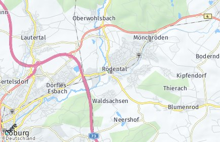 Stadtplan Rödental