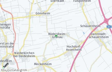 Stadtplan Rödersheim-Gronau