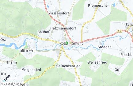 Stadtplan Rötz OT Hermannsbrunn