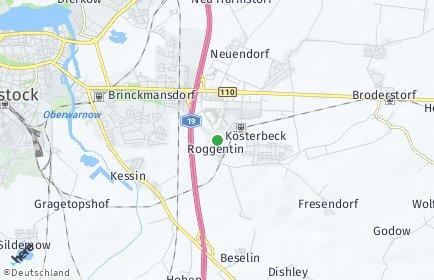 Stadtplan Roggentin bei Rostock