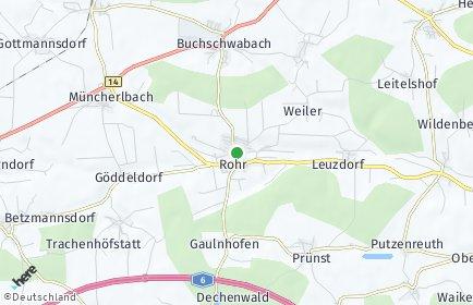 Stadtplan Rohr (Mittelfranken) OT Dechendorf