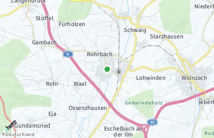 Stadtplan Rohrbach (Ilm)