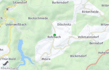 Stadtplan Rohrbach bei Saalfeld