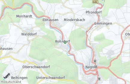 Stadtplan Rohrdorf (Kreis Calw)