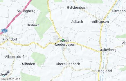 Stadtplan Rohr in Niederbayern