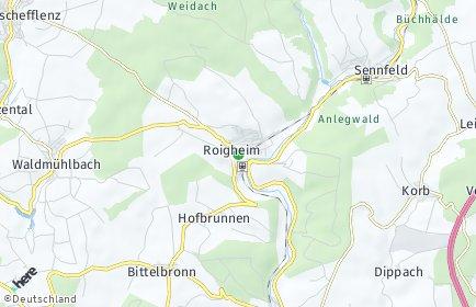Stadtplan Roigheim
