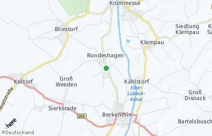 Stadtplan Rondeshagen