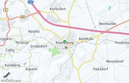 Stadtplan Ronneburg (Thüringen)