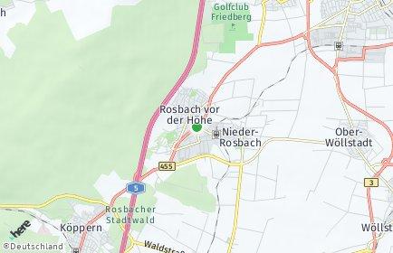 Stadtplan Rosbach vor der Höhe