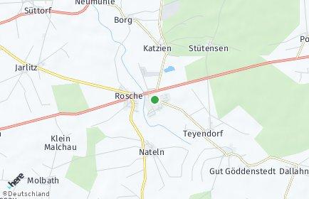 Stadtplan Rosche OT Hohenweddrien